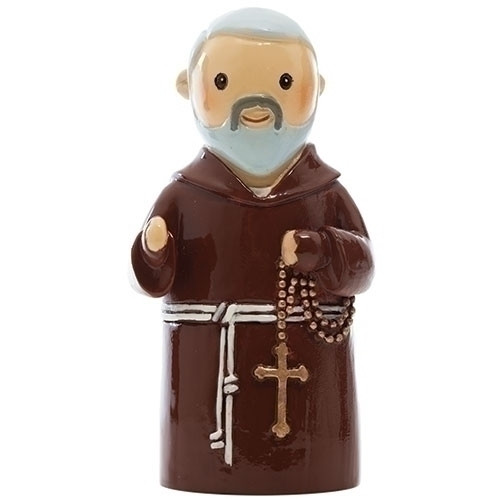 "3"" St. Padre Pio Little Drop Statue 