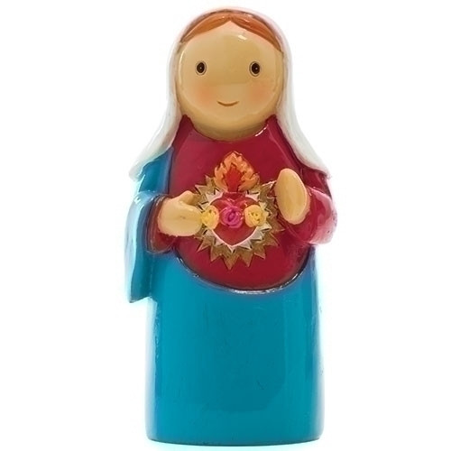 "3"" Immaculate Heart of Mary Little Drop Statue 