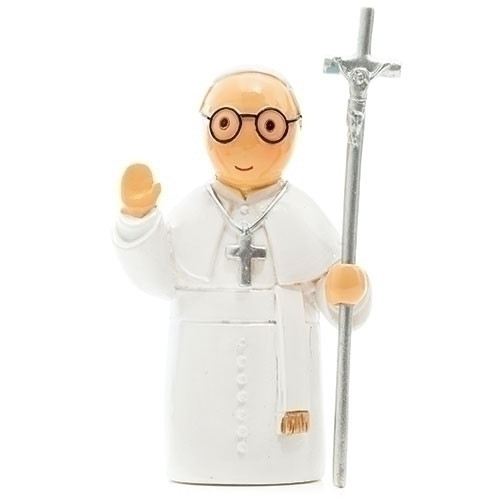 "3"" Pope Francis Little Drop Statue 