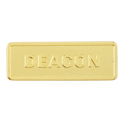 Gold Finish Deacon Church Badge | Magnetic Back | Pack of 4
