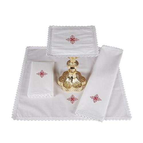 Canterbury Cross Altar Linens | 100% Cotton | Packs of 4