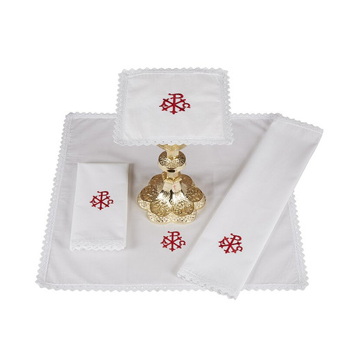 Alpha & Omega Altar Linens | 100% Cotton | Packs of 4