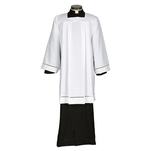 Augustinian Collection Eyelet Edge Surplice with Cross | 100% Polyester