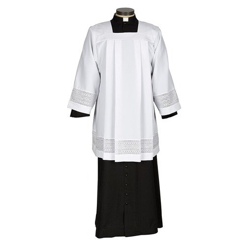 Augustinian Collection Eyelet Embroidery Surplice | 100% Polyester