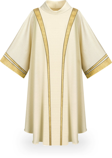 #5343 Gold Band Dalmatic | Wool/Lurex