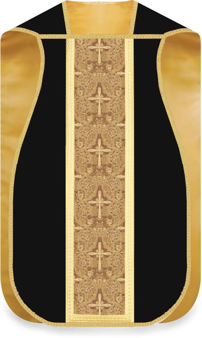 #5346 Gold Brocade Roman Fiddleback Chasuble | 100% Wool