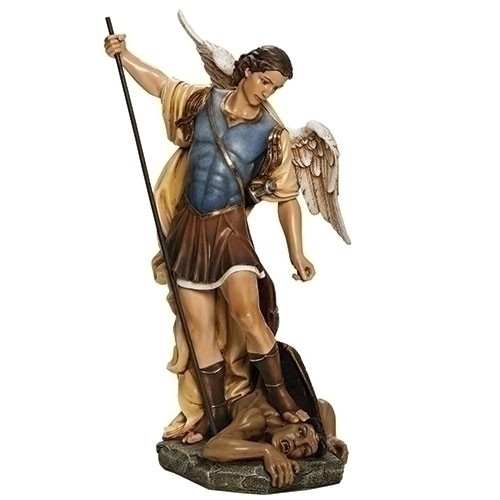 """27"""" St. Michael the Archangel Statue   Resin/Stone"""
