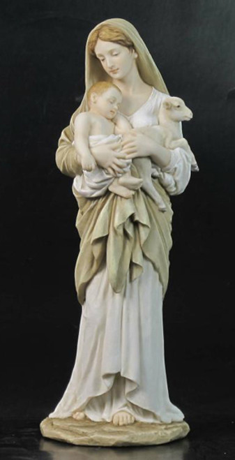 """12"""" L'Innocence (Mary & Baby) Statue   Hand Painted Color"""