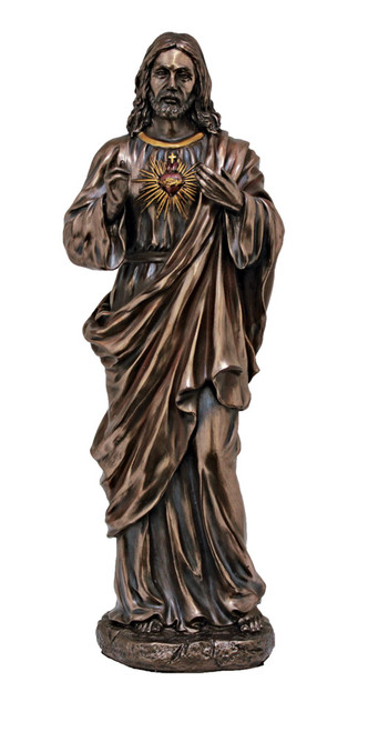 "11"" Sacred Heart of Jesus Statue 