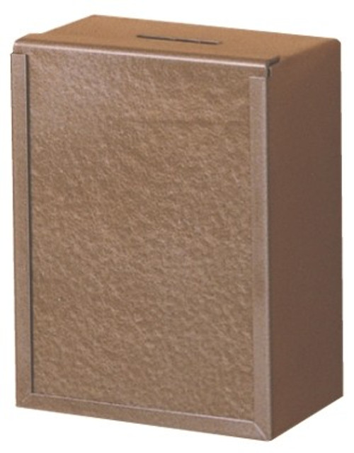 Steel Wall Mounted Offering Box | Brown Powder Coating