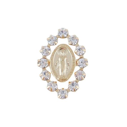 Clear Austrian Crystal Miraculous Lapel Pin