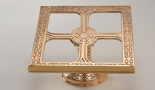 #99MS40 Ornate Textured Missal Stand | Bronze