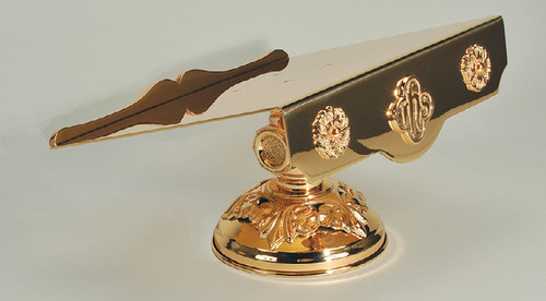 #81MS30 IHS Ornamented Missal Stand | Bronze