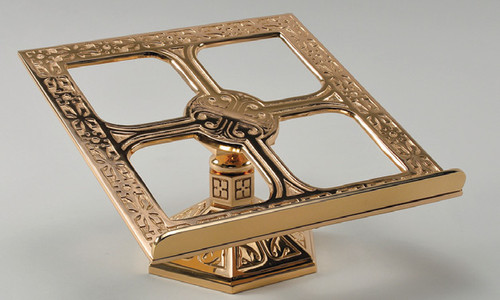 #99MS42 Ornate Textured Missal Stand | Bronze