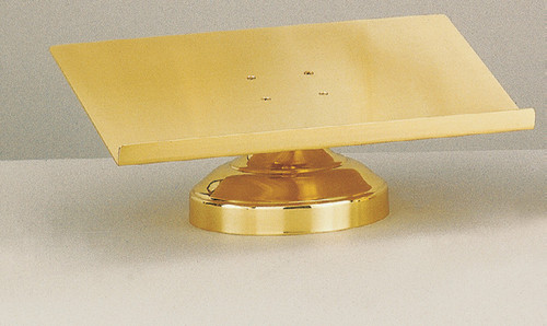 #23MS23 Round Base Missal Stand | Brass