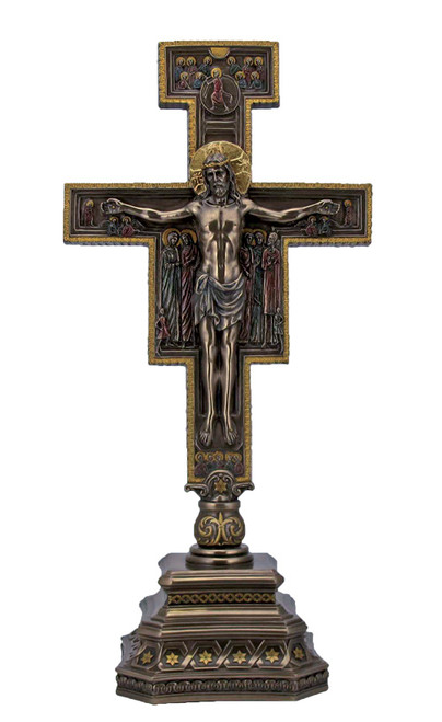 "14"" Standing San Damiano Crucifix with Base 