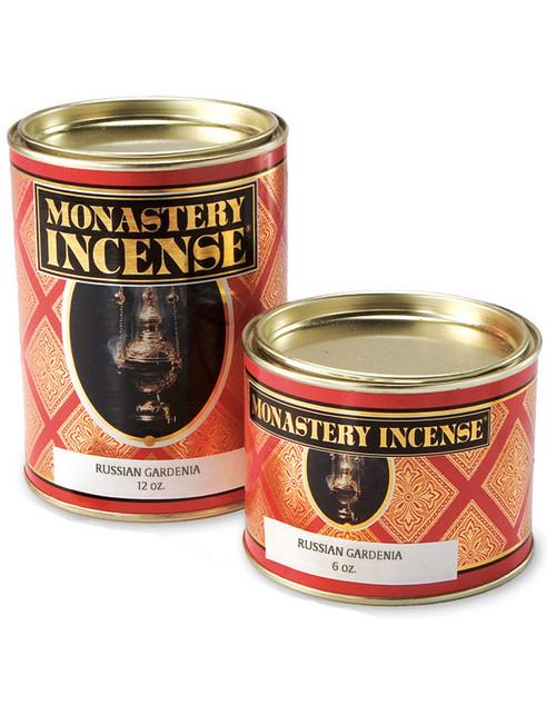 Russian Gardenia Incense | Monastery Brand | 12oz Container