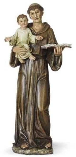 "15"" St Anthony with Child Statue 