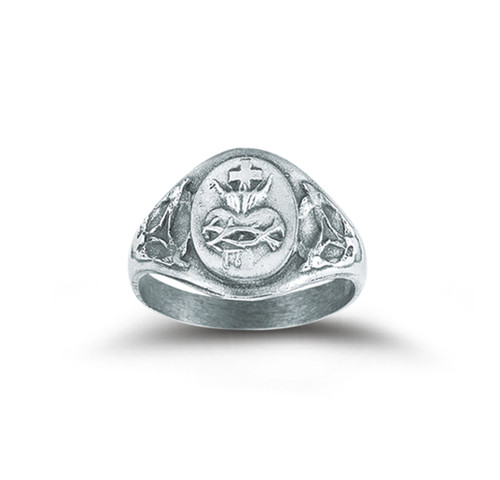 Sterling Silver Sacred Heart of Jesus Ring | All Sizes