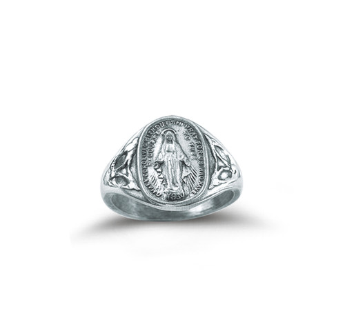 Sterling Silver Miraculous Medal Ring | All Sizes