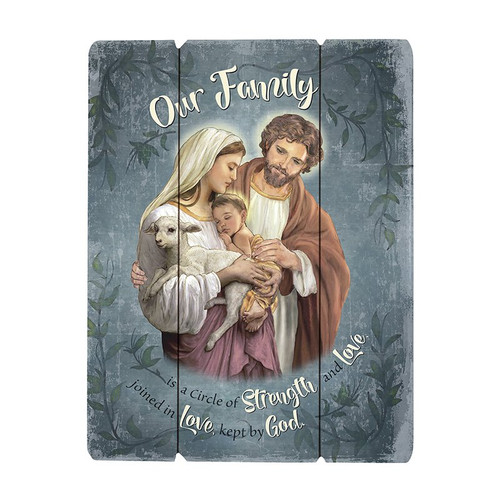 Holy Family Wood Pallet Sign