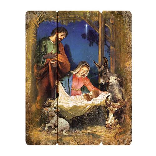 Nativity Wood Pallet Sign