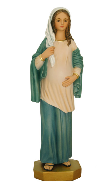 "17"" Our Lady of Hope Pregnant Madonna Statue 
