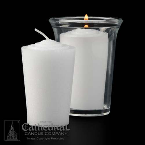 24 Hour Tapered Votive Lights | 144 Candles