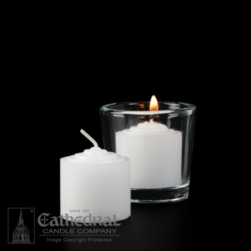 8 Hour Straight Side Votive Lights | 576 Candles