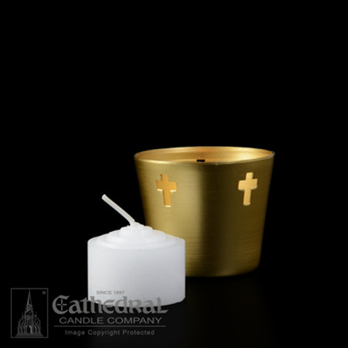 6 Hour Straight Side Votive Lights | For Use In Metal Cups | 576 Candles