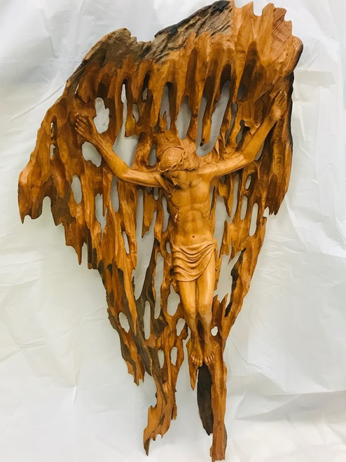 One-Of-A-Kind Hand Carved Corpus with Background