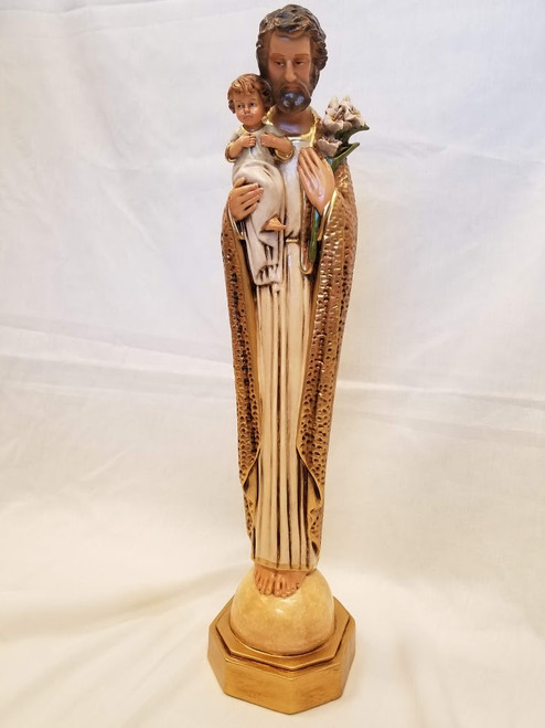 """20"""" St. Joseph Statue with Child Jesus 