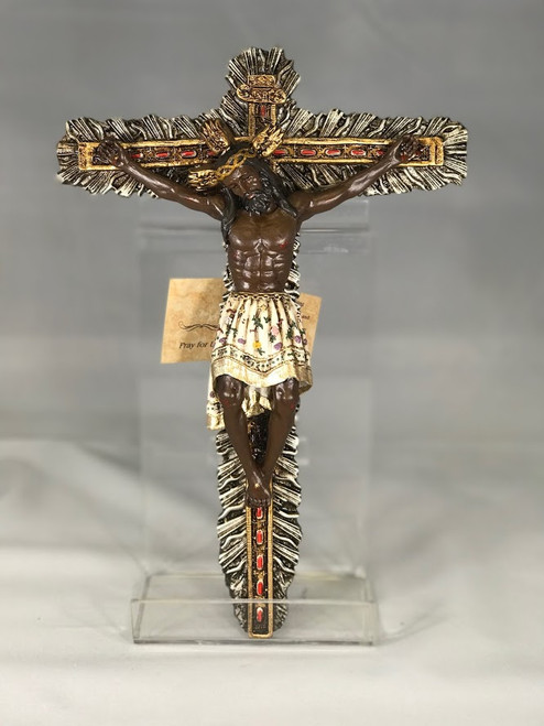 "11.5"" Miraculous Crucifix with Black Corpus 