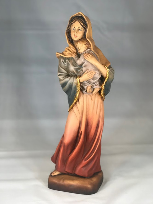 "13"" Madonna of the Streets with Child Statue 