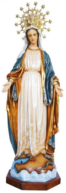 """50"""" Our Lady of Guadalupe Statue   Fancy Gold Full Color Finish"""