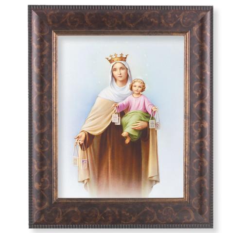 Our Lady of Mount Carmel Art-Deco Framed Art