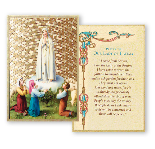 Our Lady of Fatima Gold Foil Mosaic Plaque