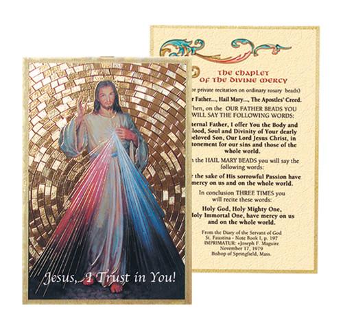 Divine Mercy Gold Foil Mosaic Plaque