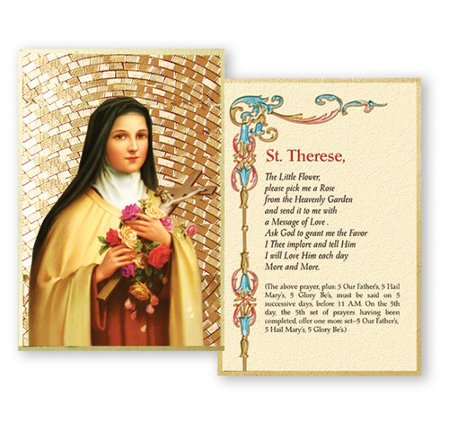 St. Therese Gold Foil Mosaic Plaque