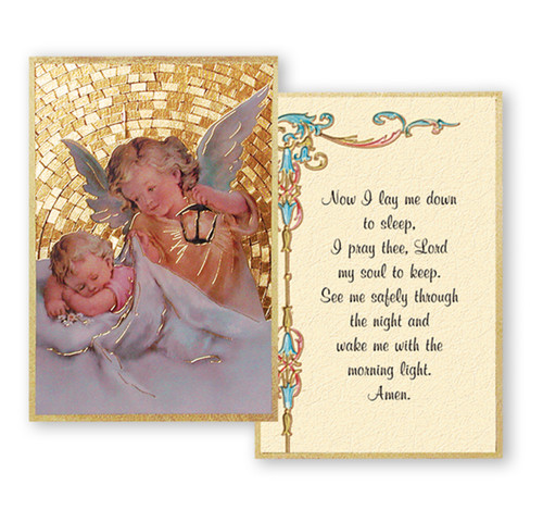 Guardian Angel with Lamp Gold Foil Mosaic Plaque