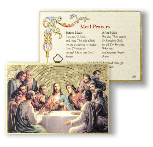 Meal Prayers Gold Foil Mosaic Plaque