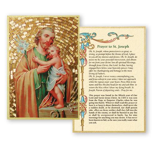 St. Joseph Gold Foil Mosaic Plaque