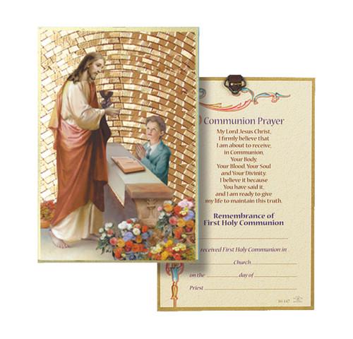 Boy First Communion Gold Foil Mosaic Plaque