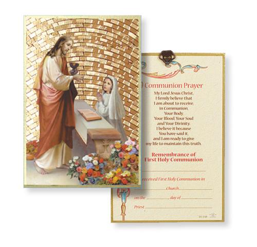 Girl First Communion Gold Foil Mosaic Plaque