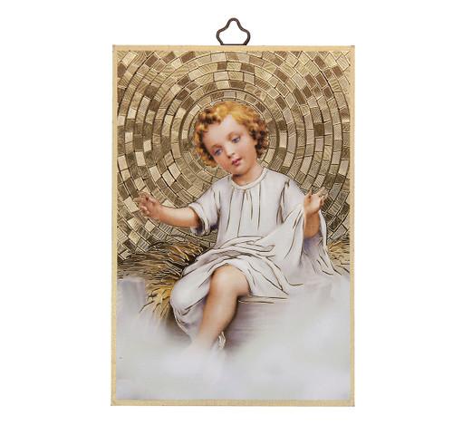 Baby Jesus Gold Foil Mosaic Plaque