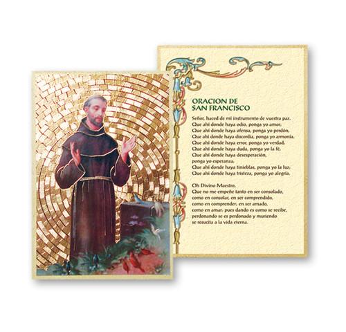 St. Francis (Spanish) Gold Foil Mosaic Plaque