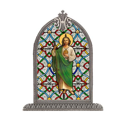 St. Jude Antiqued Framed Liturgical Glass