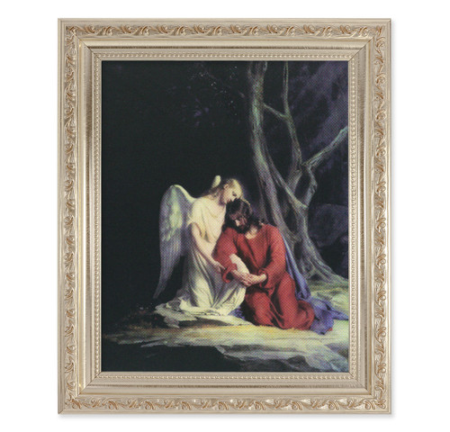 Agony in the Garden Antique Silver Framed Art