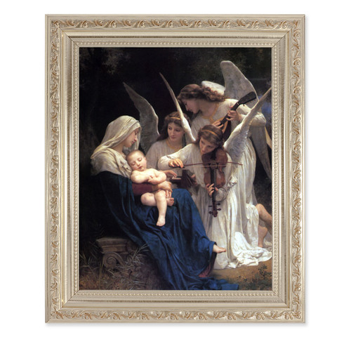 Heavenly Melody Antique Silver Framed Art