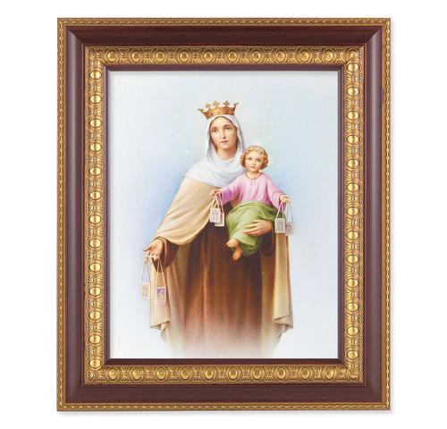 Our Lady of Mount Carmel Cherry Gold Framed Art
